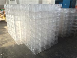 new product acrylic square clear waterproof rose flower box with drawer