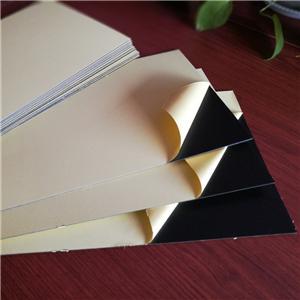 1.5mm black photo album self adhesive PVC sheet