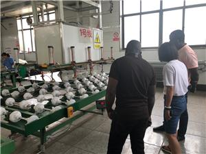 Customers come to visit the factory