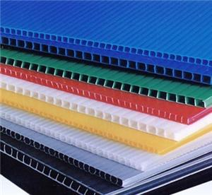 Pp corrugated plastic decorative sheet for partition