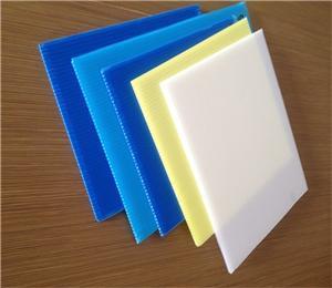 1x1m corrugated plastic coroplast tray blue color