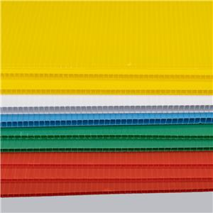 PP Corrugated Plastic Sheet 4x8 extruded pp sheet for printing
