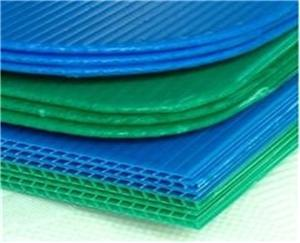 PP hollow sheet colorful 4*8 coroplast bottle tray