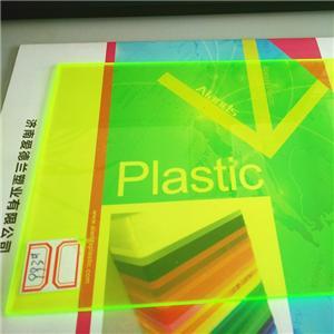 green fluorescent cast acrylic sheet 122x244cm