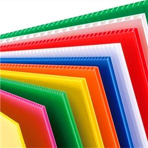 250-2000gsm PP fluted plastic corrugated sheet