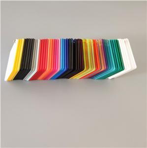 1200x2400mm plastic PMMA manufacturer wholesales 2mm color acrylic sheet
