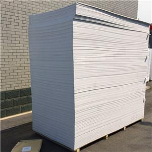 different density white PVC foam sheet used for wall decoration