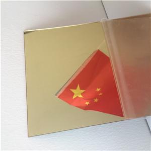 100% virgin material 2mm 3mm mirror acrylic sheet gold color