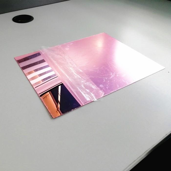 rose gold silver pink acrylic mirror sheet 122x244cm