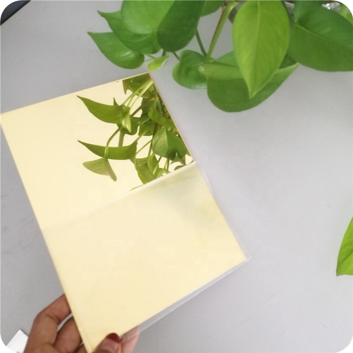 1m 2mm 3mm silver and gold acrylic mirror sheet