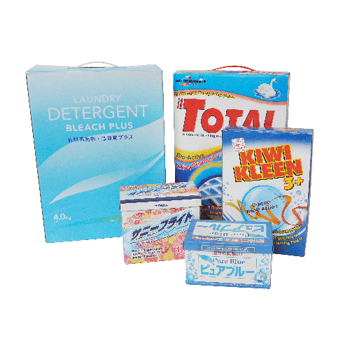 Japan brand paper box washing powder