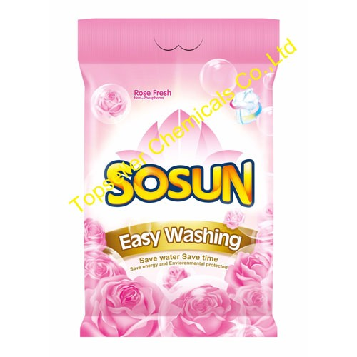 110g sachet high foam and strong perfume detergent powder