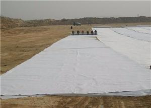 120g short fiber nonwoven geotextile white