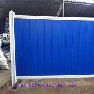 Temporary Color Bond fence