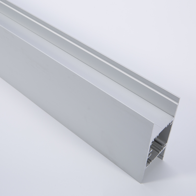 Wall mounted up/down led profile integrated driver