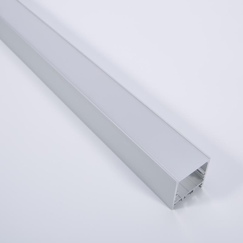 Oppervlakte vierkant geleid profiel