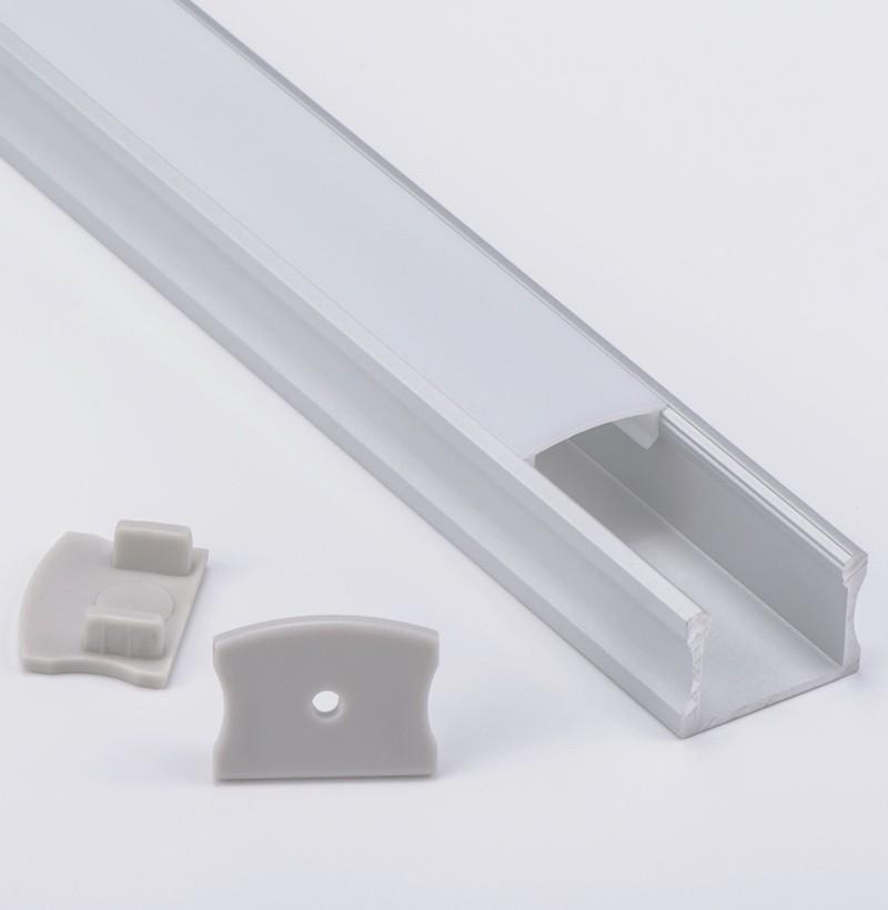 Perfil de aluminio conducido superficie del montaje AS6