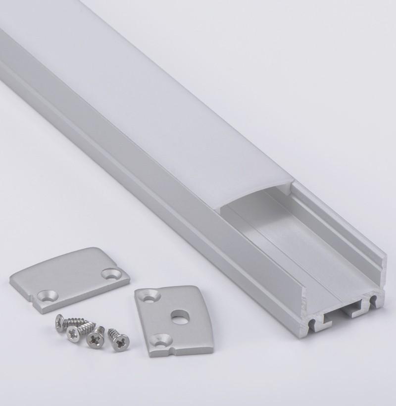 C22 Montaje de superficie Led Perfil de aluminio