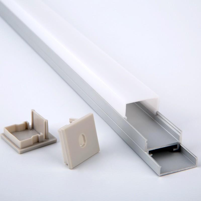 Perfil de aluminio de montaje en superficie AT2