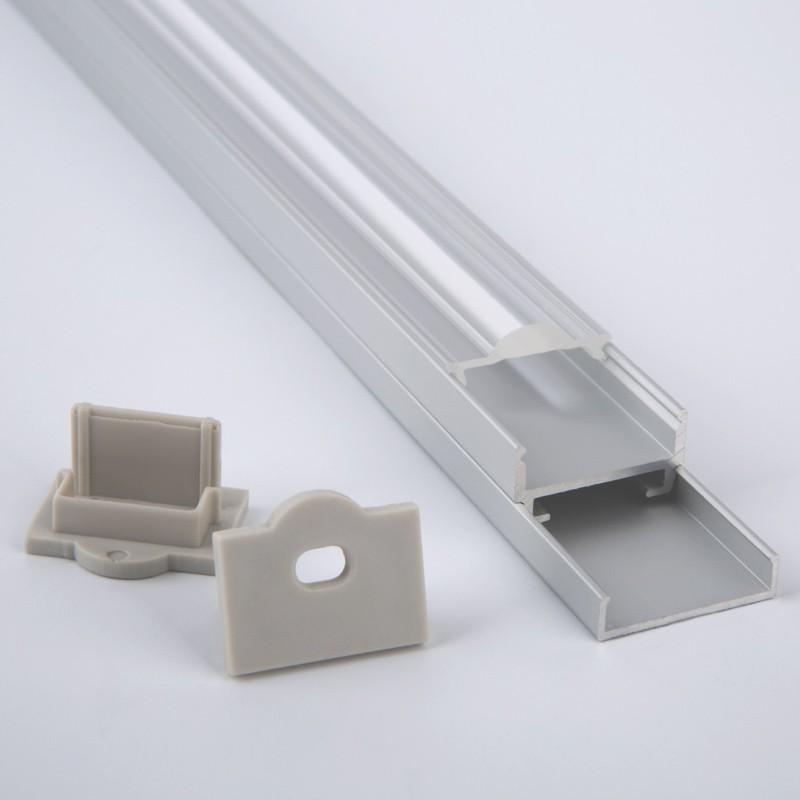Perfil de aluminio de montaje en superficie AT3