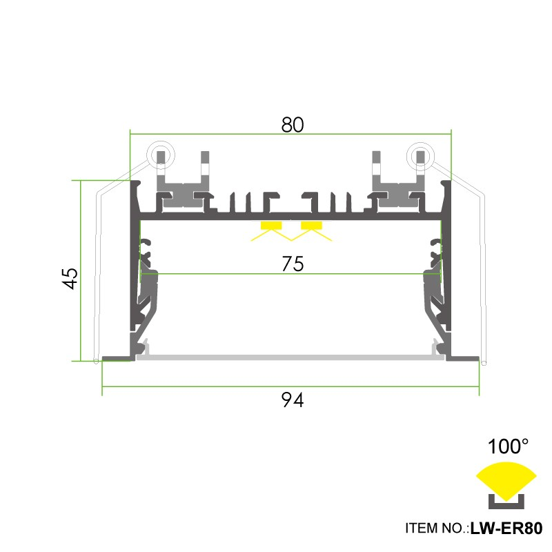 ER80 Led Aluminum Profile Manufacturers, ER80 Led Aluminum Profile Factory, Supply ER80 Led Aluminum Profile
