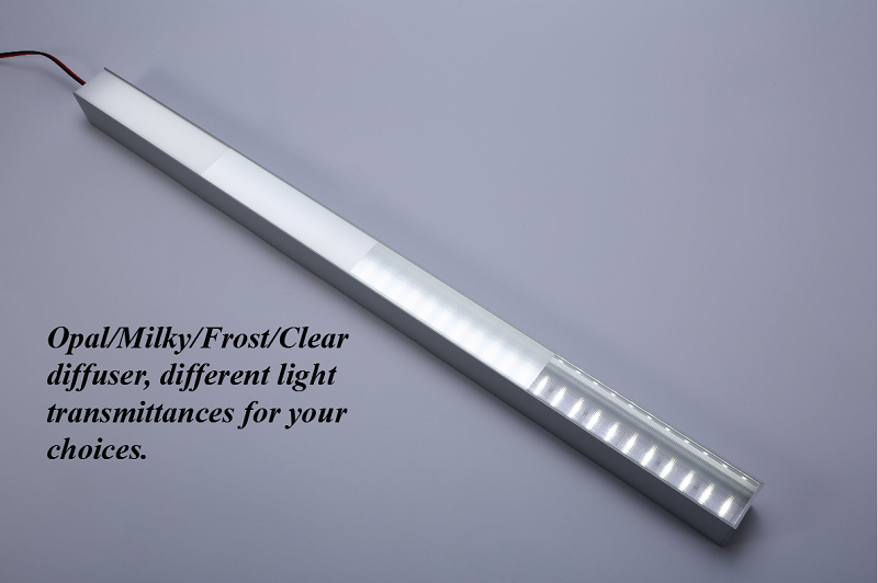 Extra slim surface install led profile light