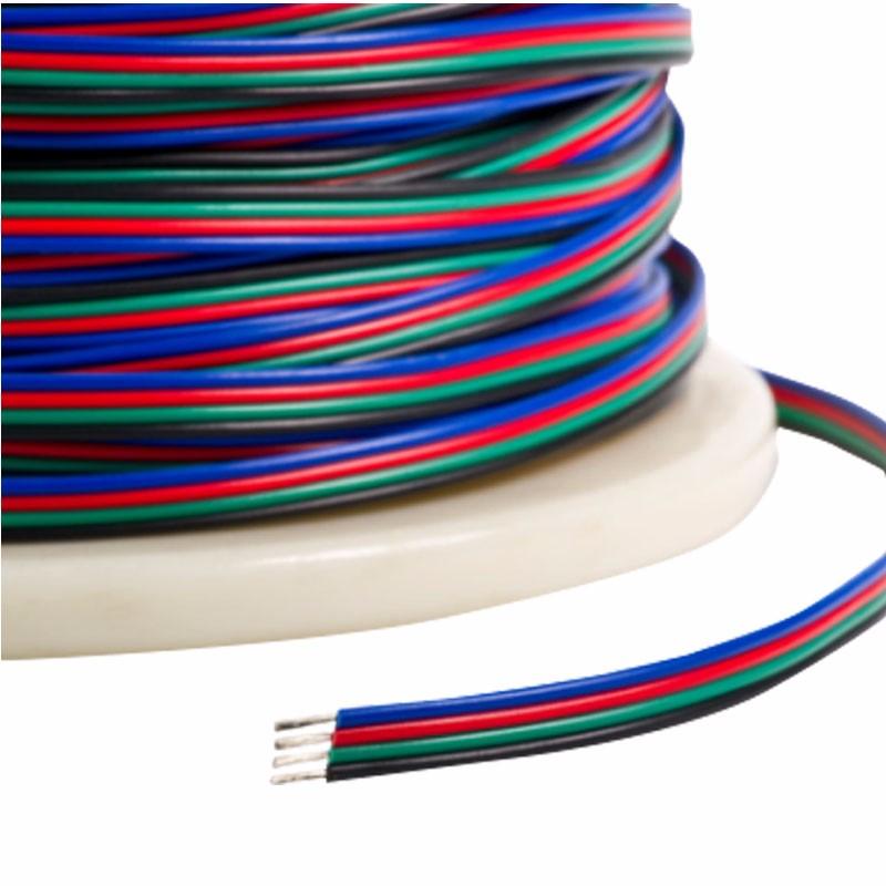 Fire ledere RGB strømkabel, RGB-4Wire