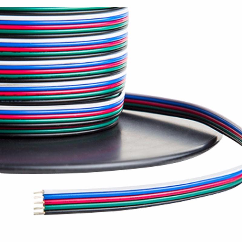 Fem ledere RGB + W strømkabel, RGBW-5Wire