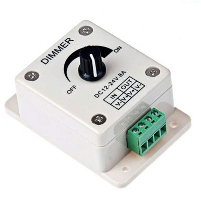 Dial Dimmer - Constant Voltage 8A 12vdc To 24vdc