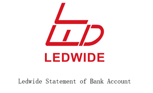 Ledwide Statement of Bank Account