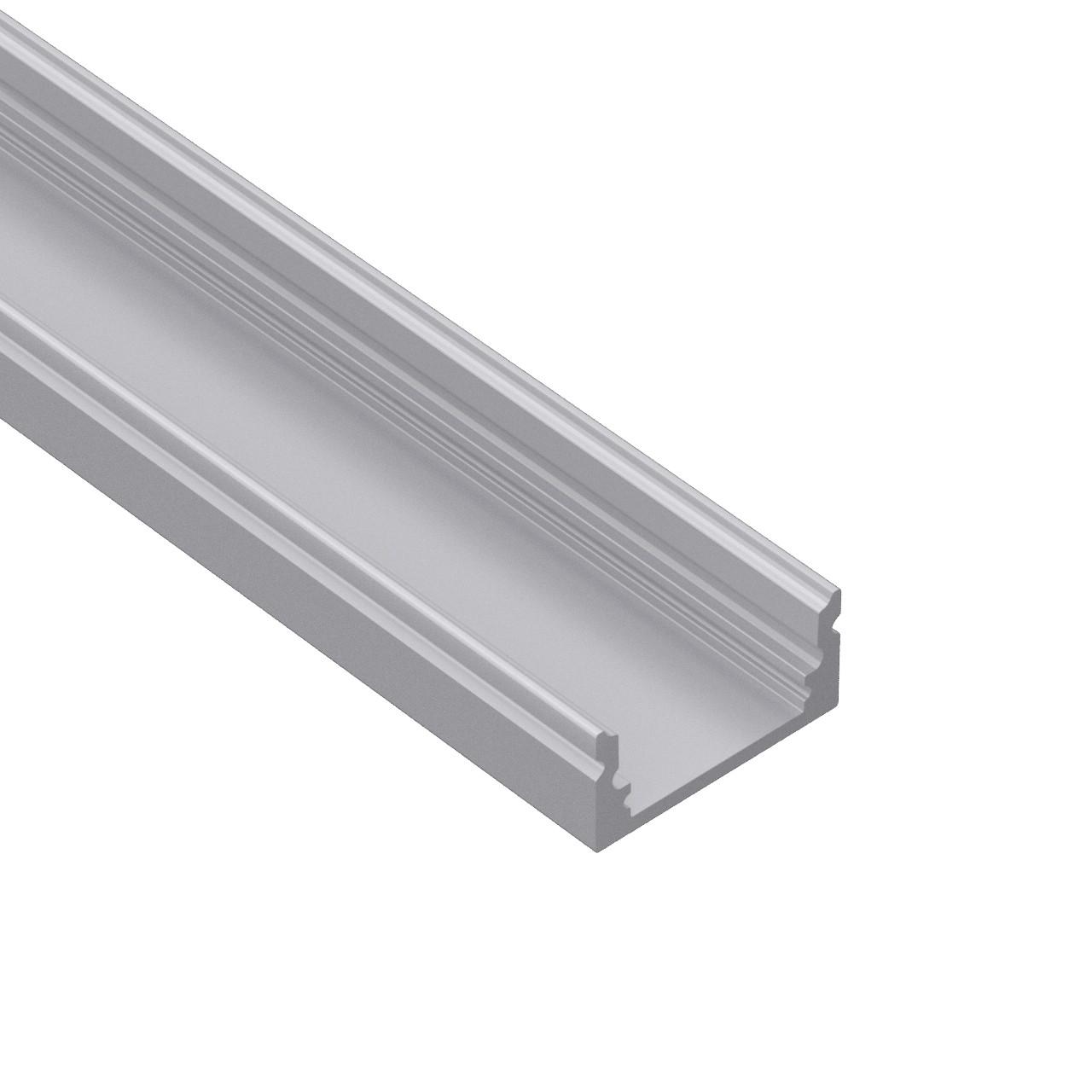 AL60 60˚ lensed / Optik LED profil til LED Strip 13.5x17mm