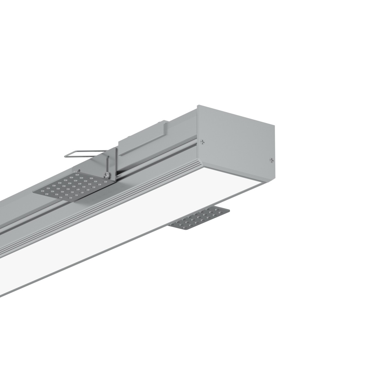 TR60 60mm Trimless førte profil for gips loft 74.7x48mm