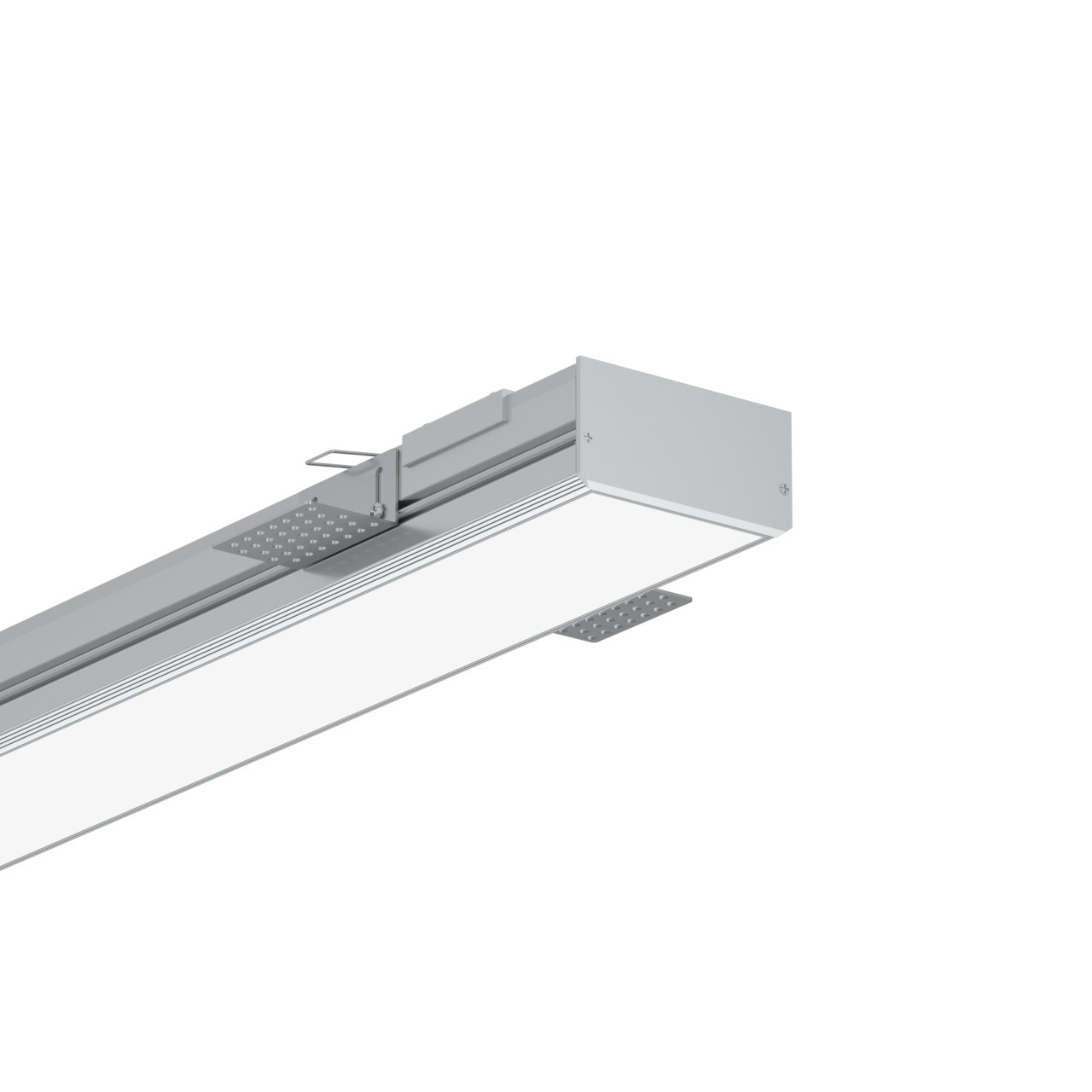 TR80 80mm Trimless førte profil for gips loft 94.7x48mm