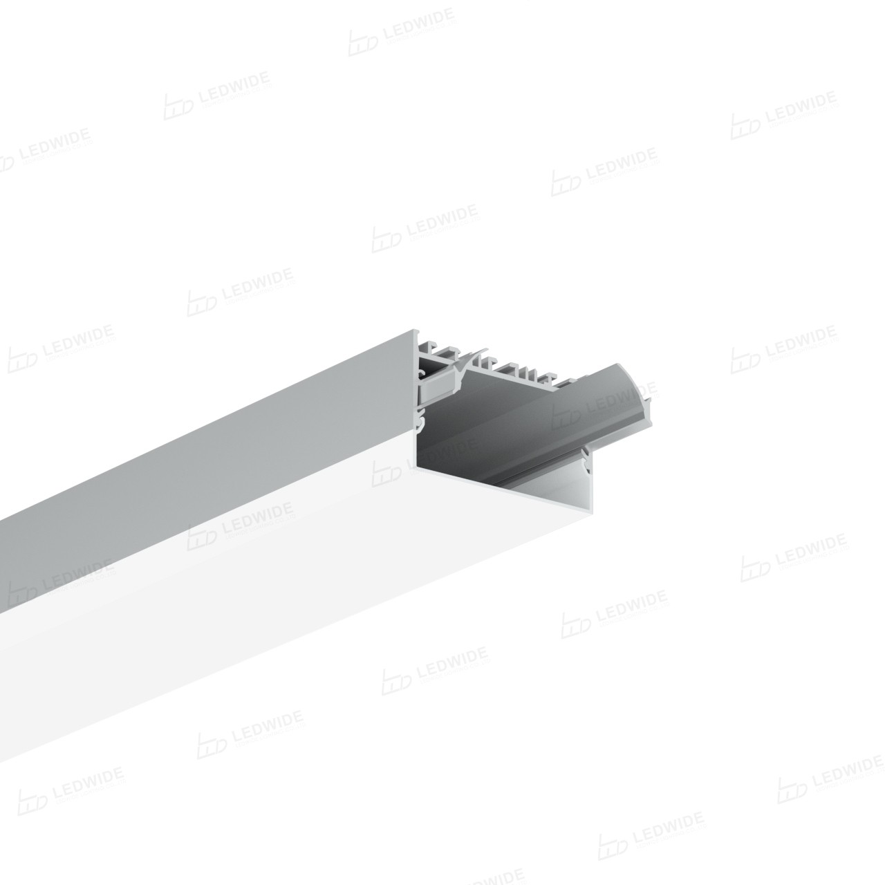 EU80 80mm U shaped square led profile 80x52.5mm Manufacturers, EU80 80mm U shaped square led profile 80x52.5mm Factory, Supply EU80 80mm U shaped square led profile 80x52.5mm