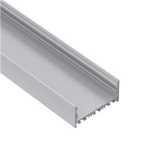 EU80 80mm U shaped square led profile 80x52.5mm