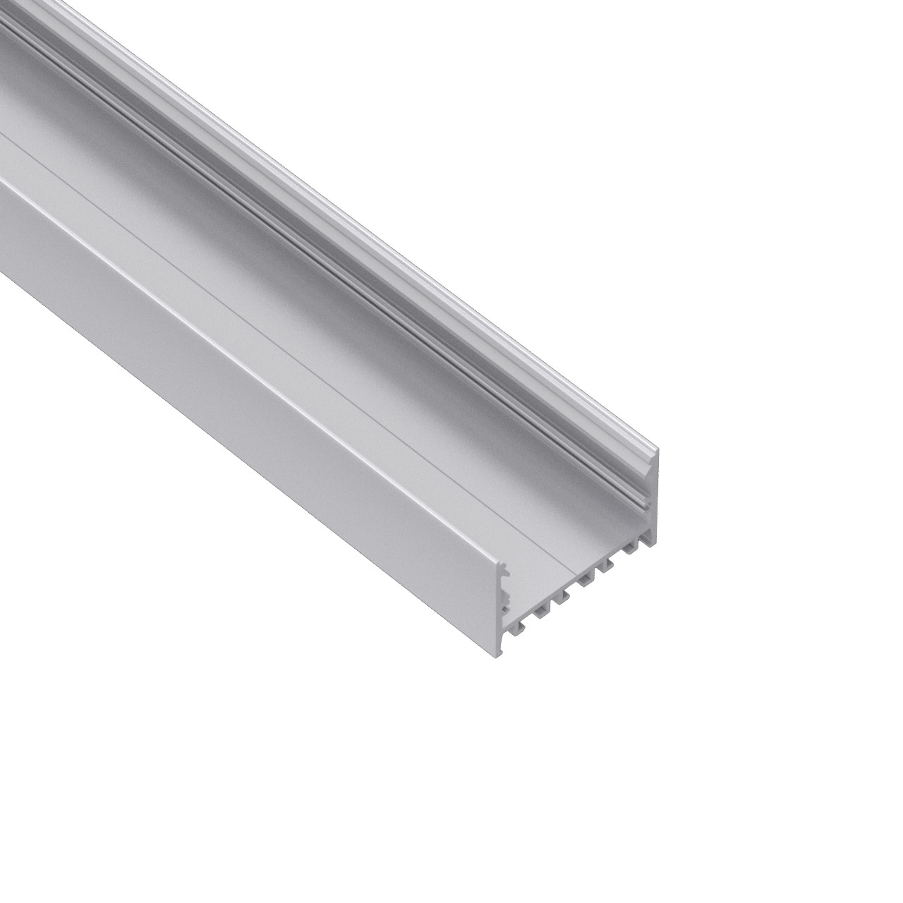 EU60 60mm wide surface & suspended square led profile 60x47.5mm