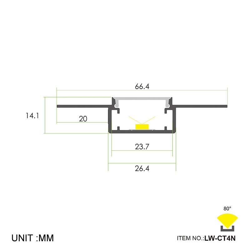 CT4N Trimless Recessing 66.4x14.1mm Manufacturers, CT4N Trimless Recessing 66.4x14.1mm Factory, Supply CT4N Trimless Recessing 66.4x14.1mm
