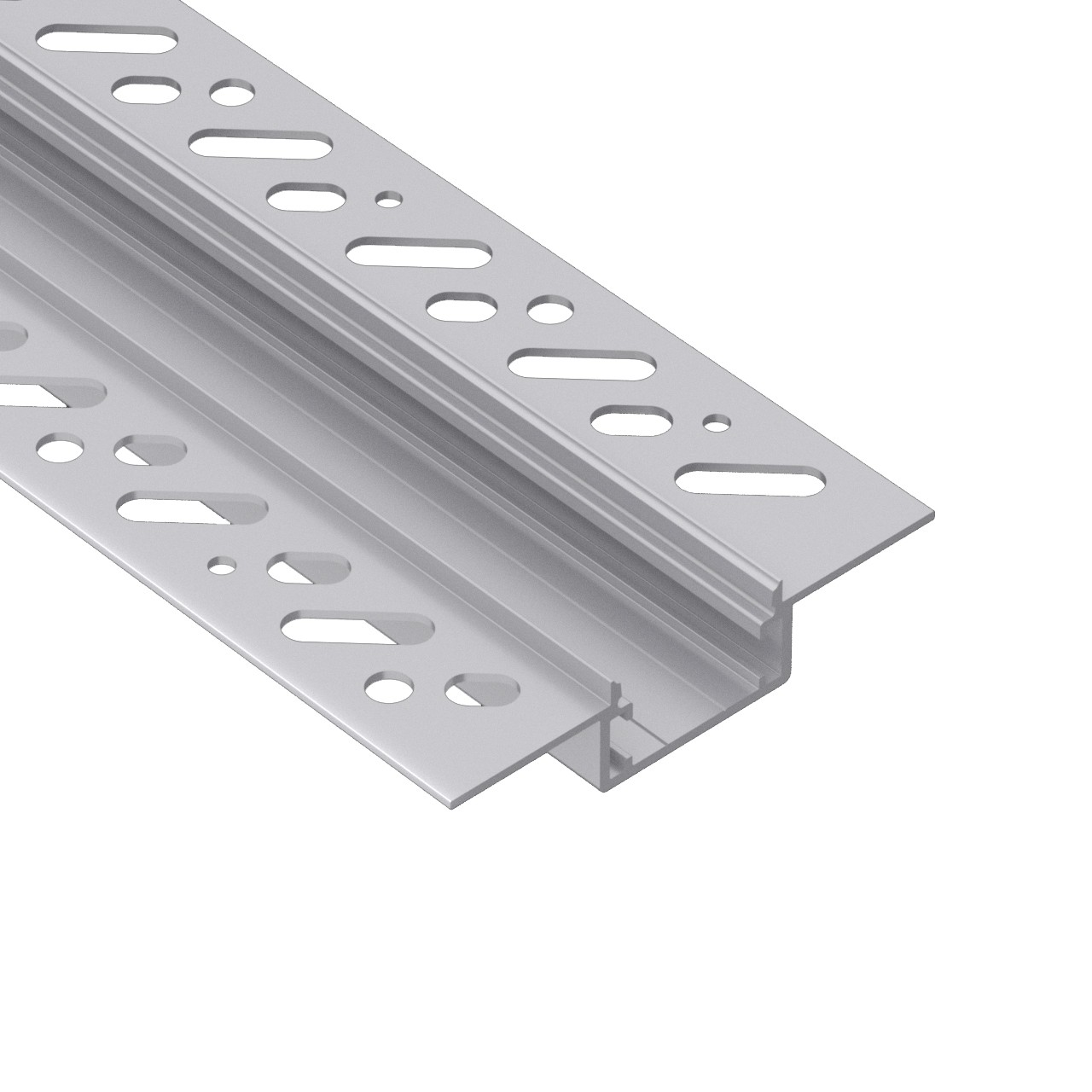 CT4N Trimless Aluminium Extrusions for recessing into plasterboard walls and ceilings 66.4x14.1mm