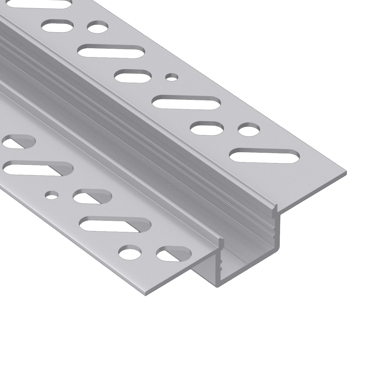 CT5 Trimless Aluminium Extrusions for recessing into plasterboard walls and ceilings 58.9x13.7mm