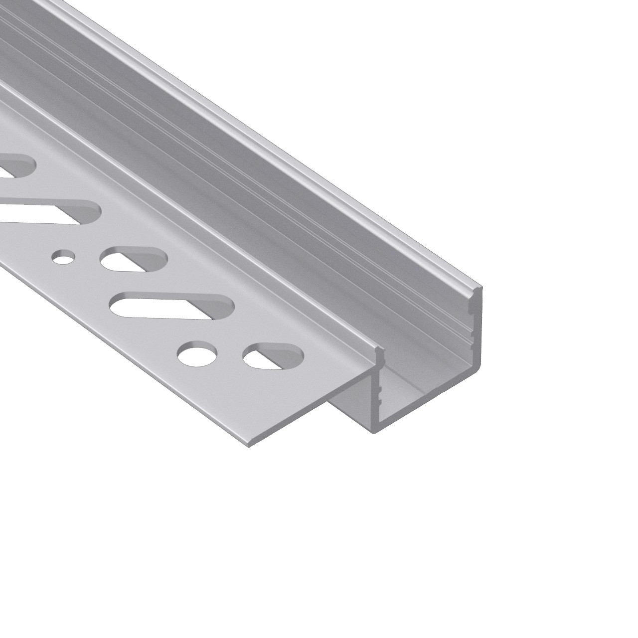 CT5S Trimless Aluminium Extrusions for recessing into plasterboard edge 38.8x13.6mm
