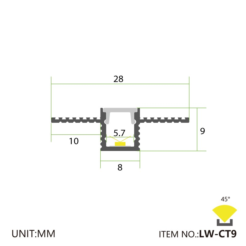 CT9 Recessing Plasterboard Wall 28x9mm Manufacturers, CT9 Recessing Plasterboard Wall 28x9mm Factory, Supply CT9 Recessing Plasterboard Wall 28x9mm
