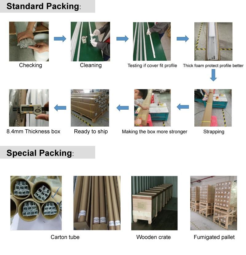 Rabat aluminiumsprofil og diffuser med