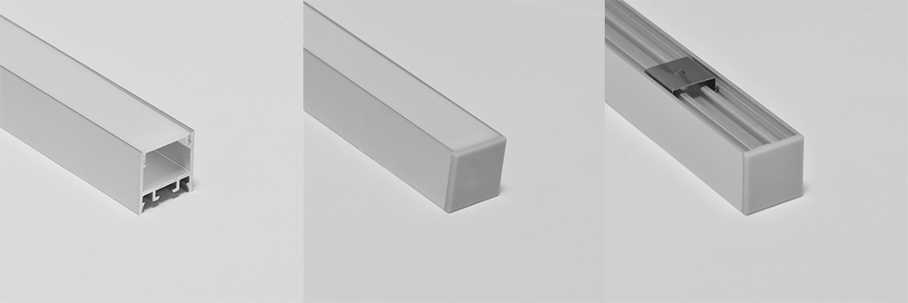 Surface square led profile