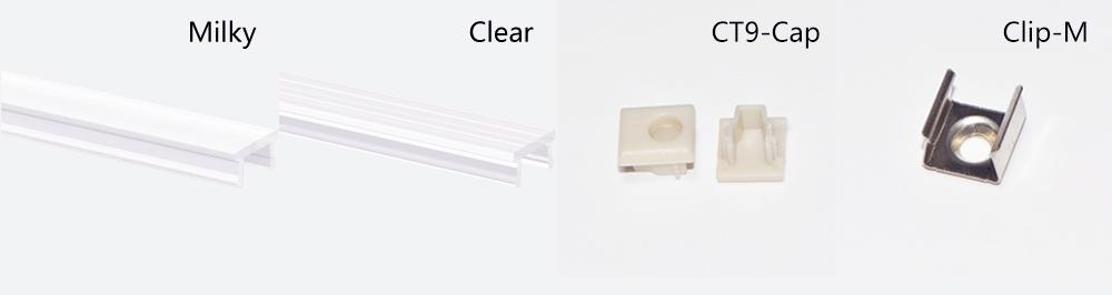 Rebate aluminium profile and diffuser with