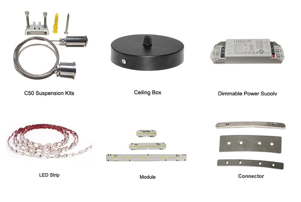 Inward/outward pendant ring fittings