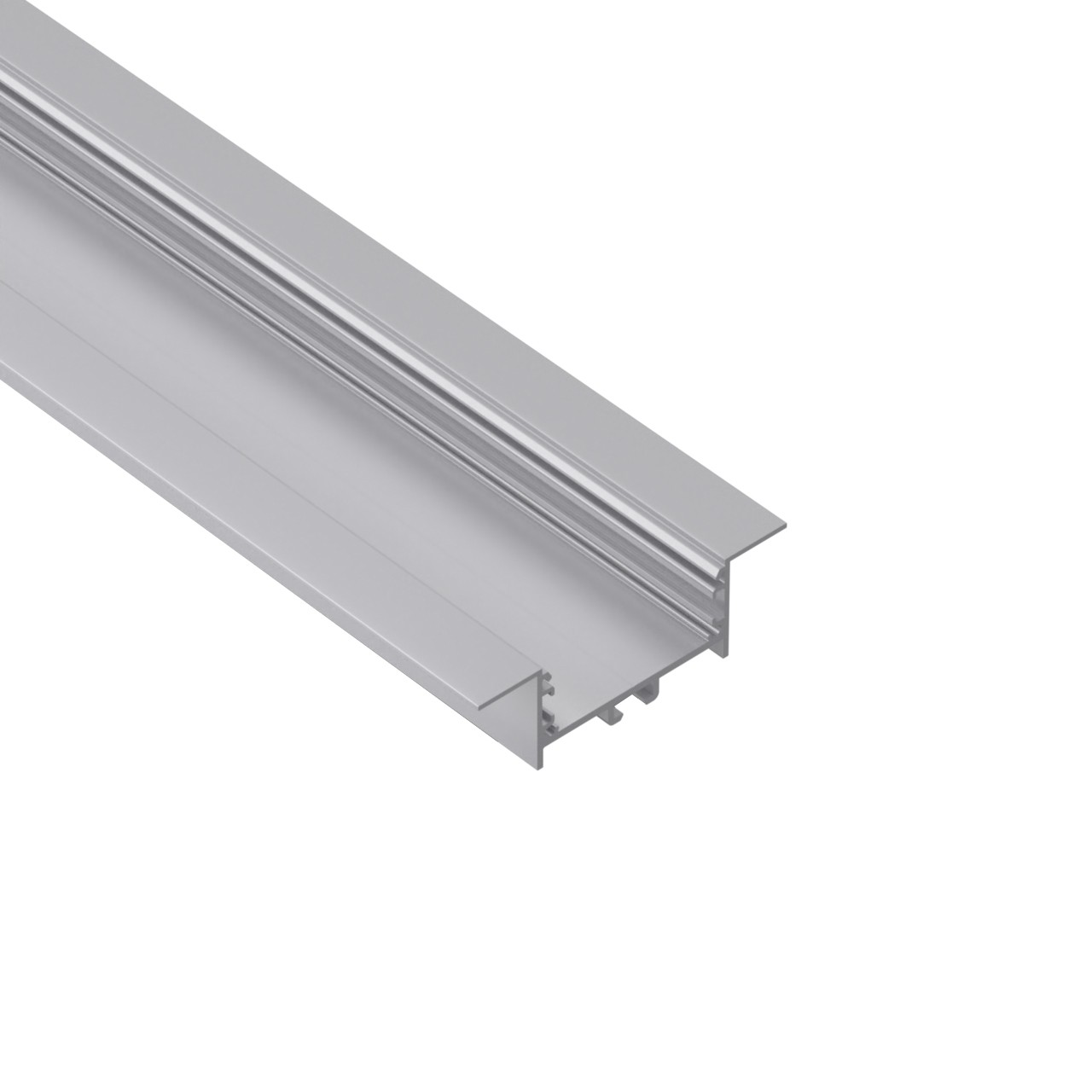 ER50-2 50mm wide recessed led extrusion profile 80x25mm