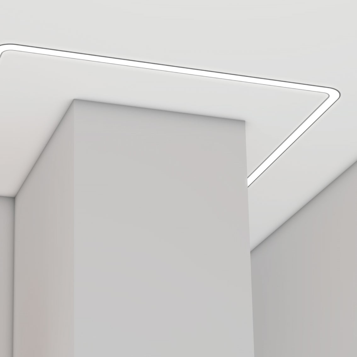 Curved led lighting profile 100mm wide item LW-CR100