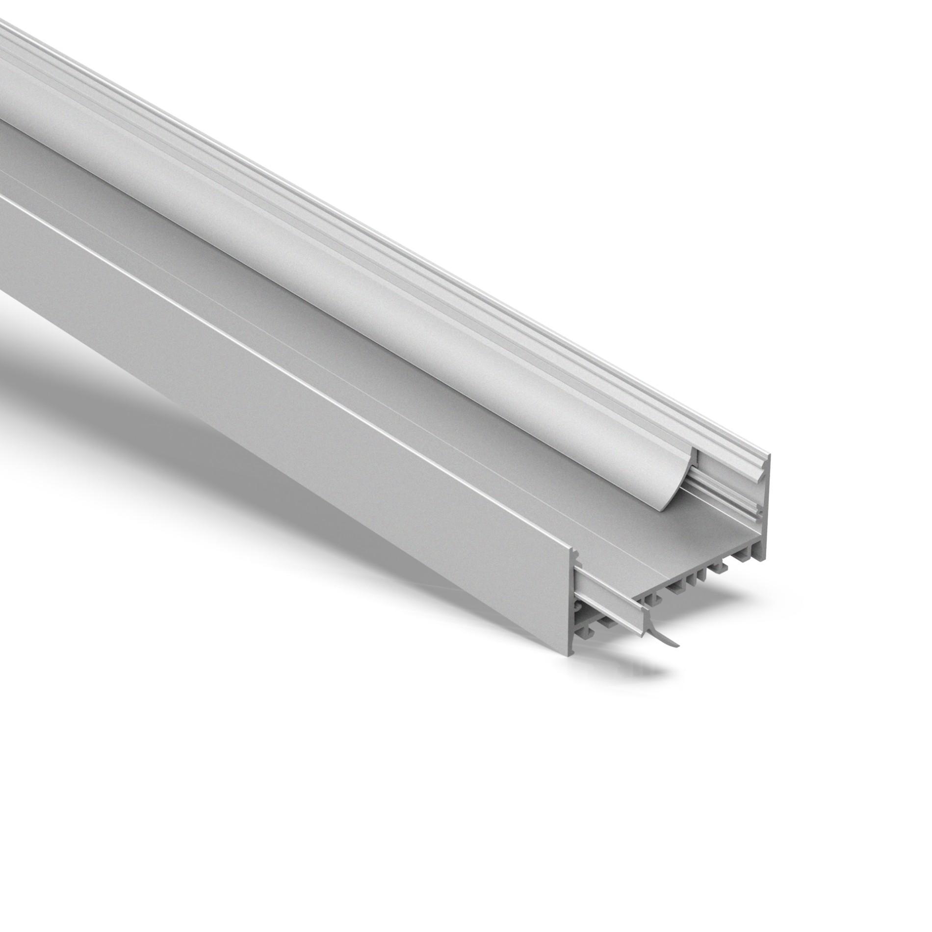 EU80 80mm U shaped square led profile 80x52.5mm