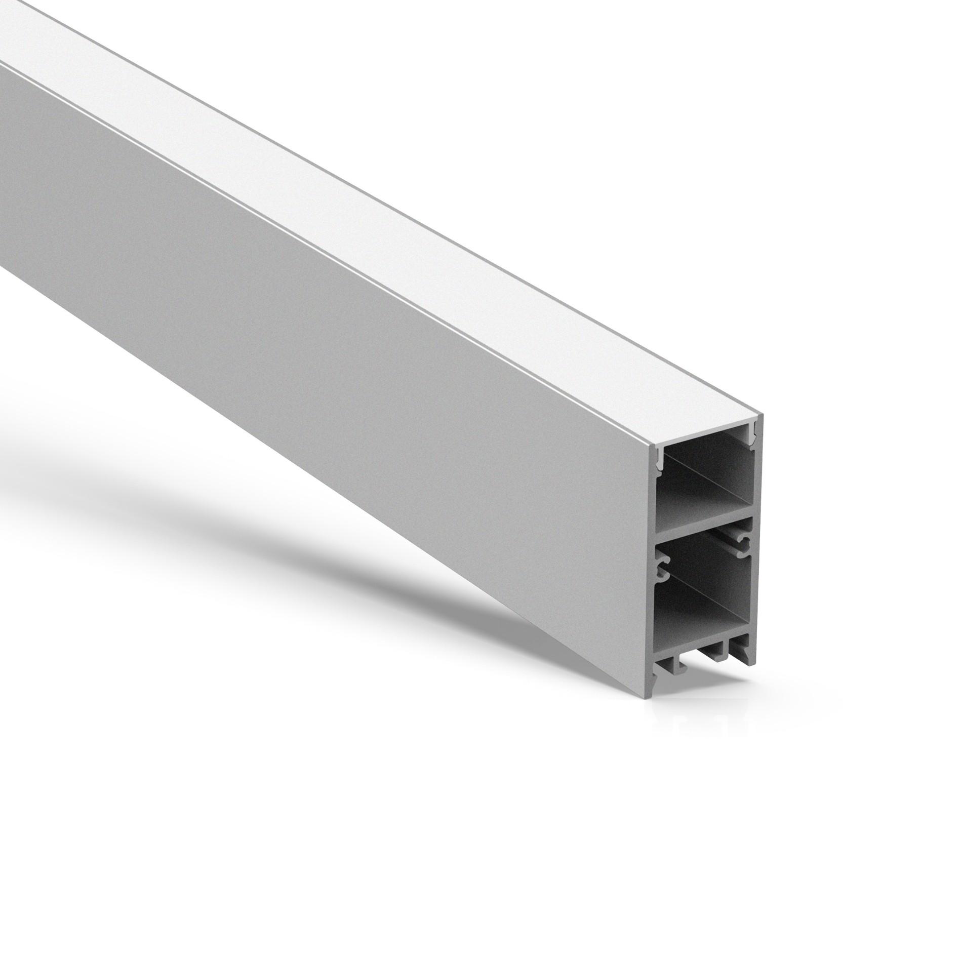 Perfil de aluminio LED de montaje en superficie U20 H 20x40mm