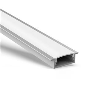 Perfil y difusor de aluminio AR3 Rebate con cubierta